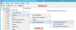 user certificate